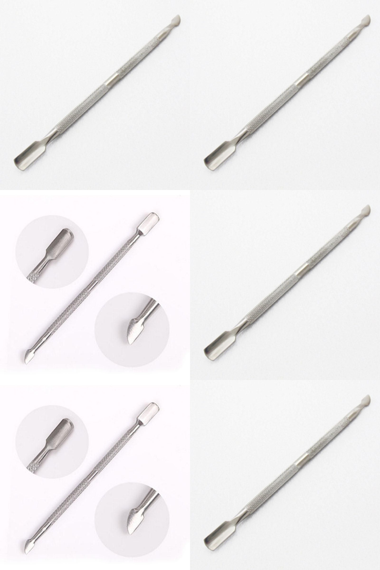 Visit to Buy] Stainless Steel Cuticle Nail Pusher Cleaner Spoon ...