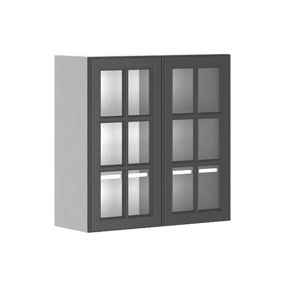 30x30x12 5 In Buckingham Wall Cabinet In White Melamine And Glass Door In Gray Melamin Glass Kitchen Cabinet Doors Glass Cabinet Doors Glass Kitchen Cabinets