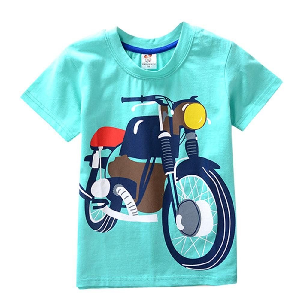 5a6c462d8 Leegor Boys TShirtKids Baby Boys Girls Clothes Crew Neck Short ...