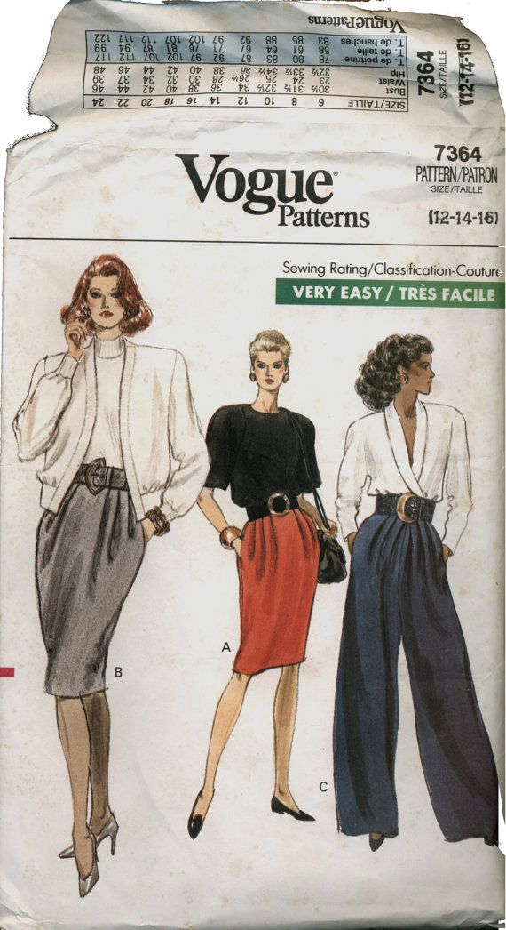 Vintage Vogue sewing pattern | Sewing patterns | Pinterest