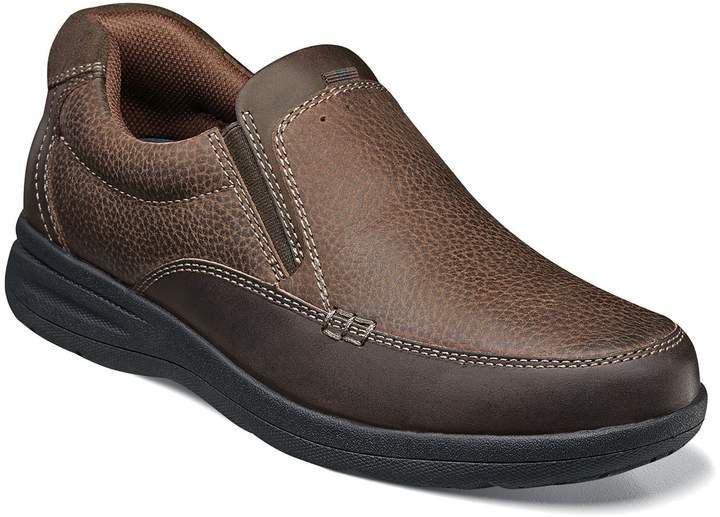 Leather shoes men, Casual slip on shoes