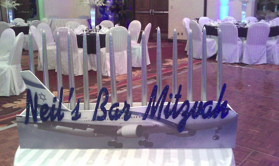 Travel theme airplane candle lighting mazelmoments bar the candle lighting ceremony is a unique and sentimental moment in a batbar mitzvah we share creative ideas to make it your own including unique candle aloadofball Choice Image