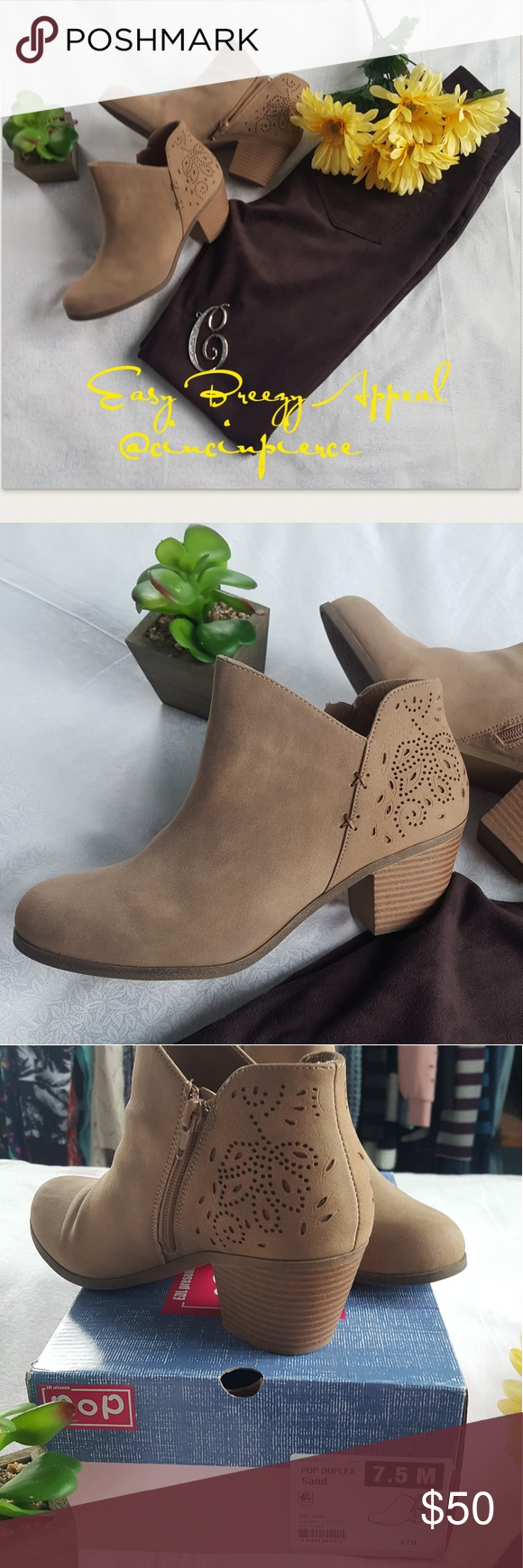 af5dd7437faf Ankle Boots ~ 7 1 2 Pop deluxe sand colors Size 7 1 2 gentle used I ...