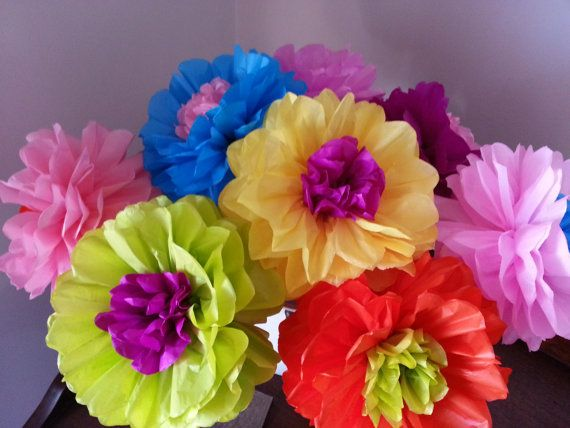 Tissue paper fiesta flowers set of 8 tissue paper flower parties tissue paper flowers are a great way to add a unique touch to any birthday party wedding baby shower or special event this listing is for 8 baby mightylinksfo