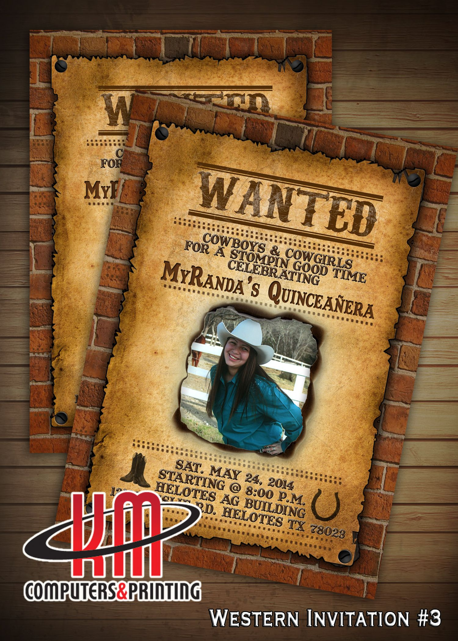 Wanted Poster Invitation for Boy or girl Birthday - Sweet ...