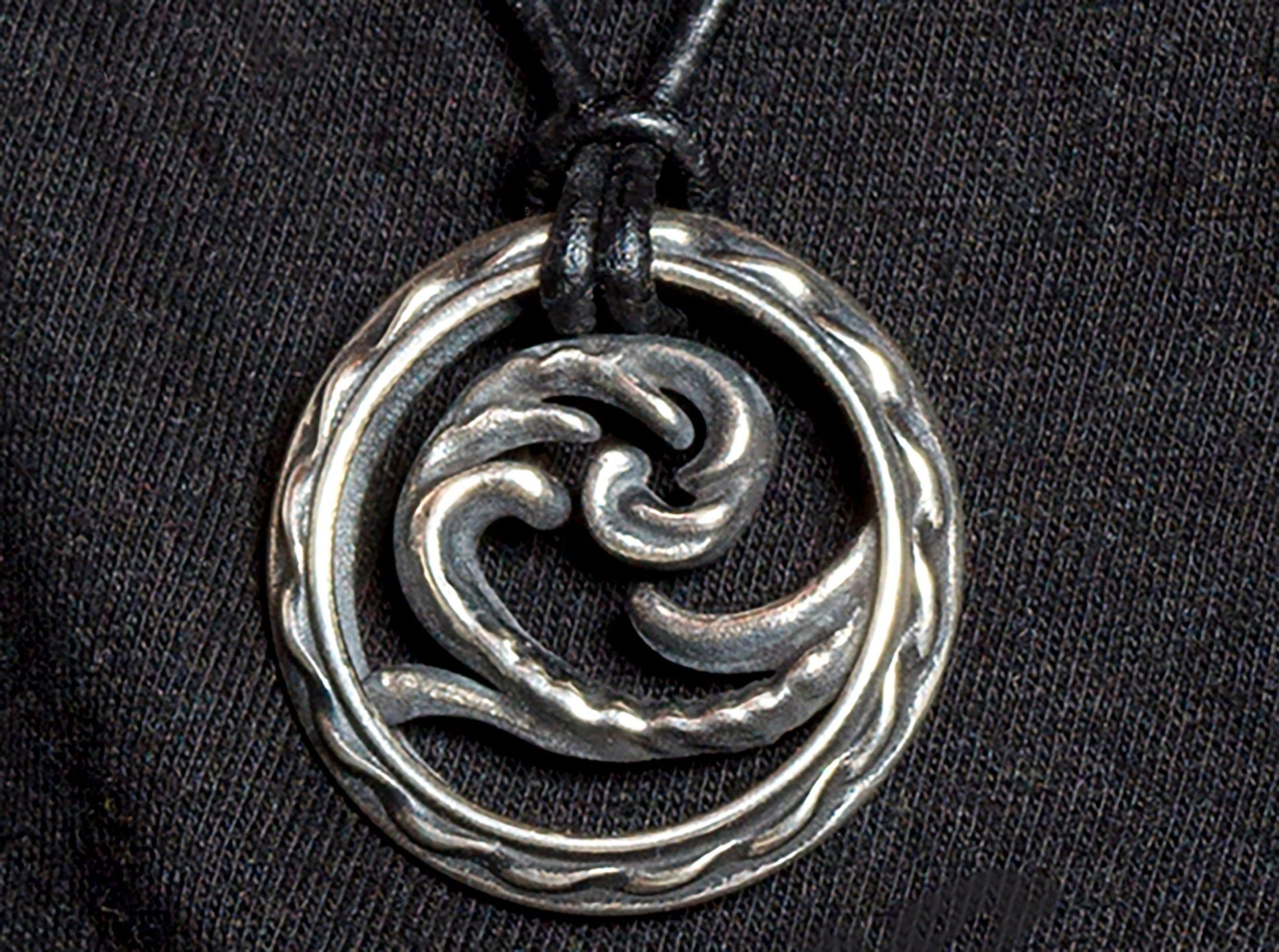 Rustic silver necklace Cast sterling silver necklace Lost wax silver necklace Sterling silver necklace
