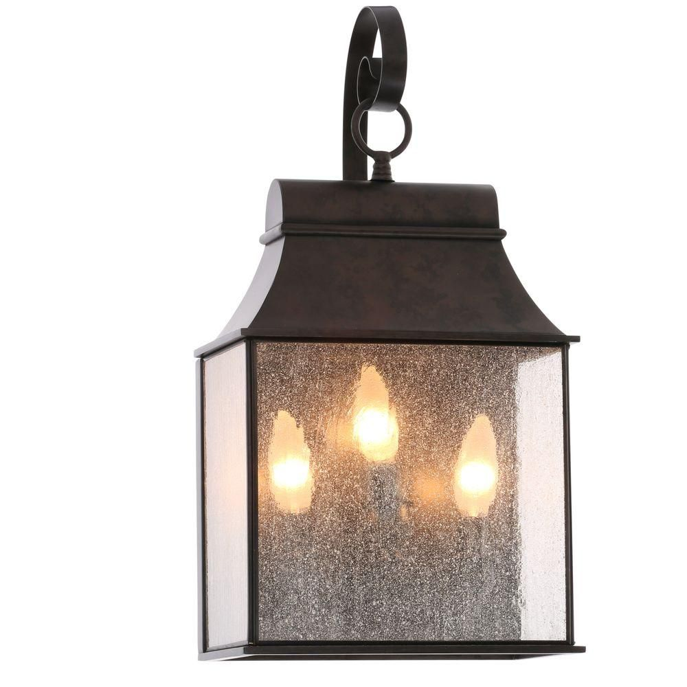 World Imports Revere Collection 3 Light Flemish Outdoor Wall Mount Lantern Wi6131306 The Home Depot