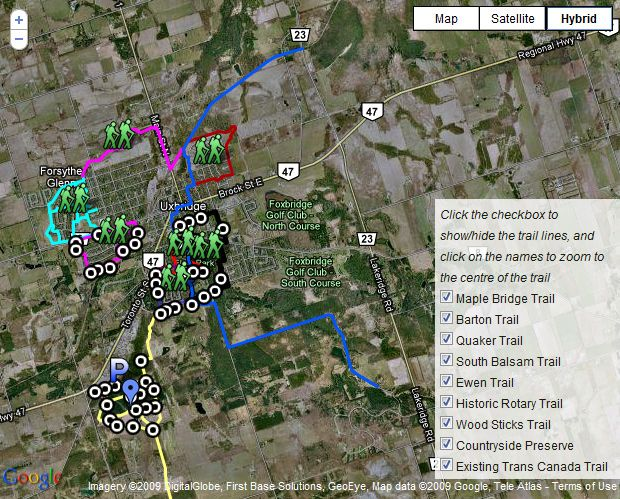 Uxbridge Trails Google Maps Things To Do Around Durham Pinterest - Google maps trails