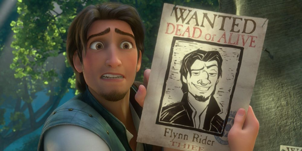 Flynn rider and his wanted poster in tangled raiponce disney tangled disney et disney icons - Raiponce et flynn rider ...