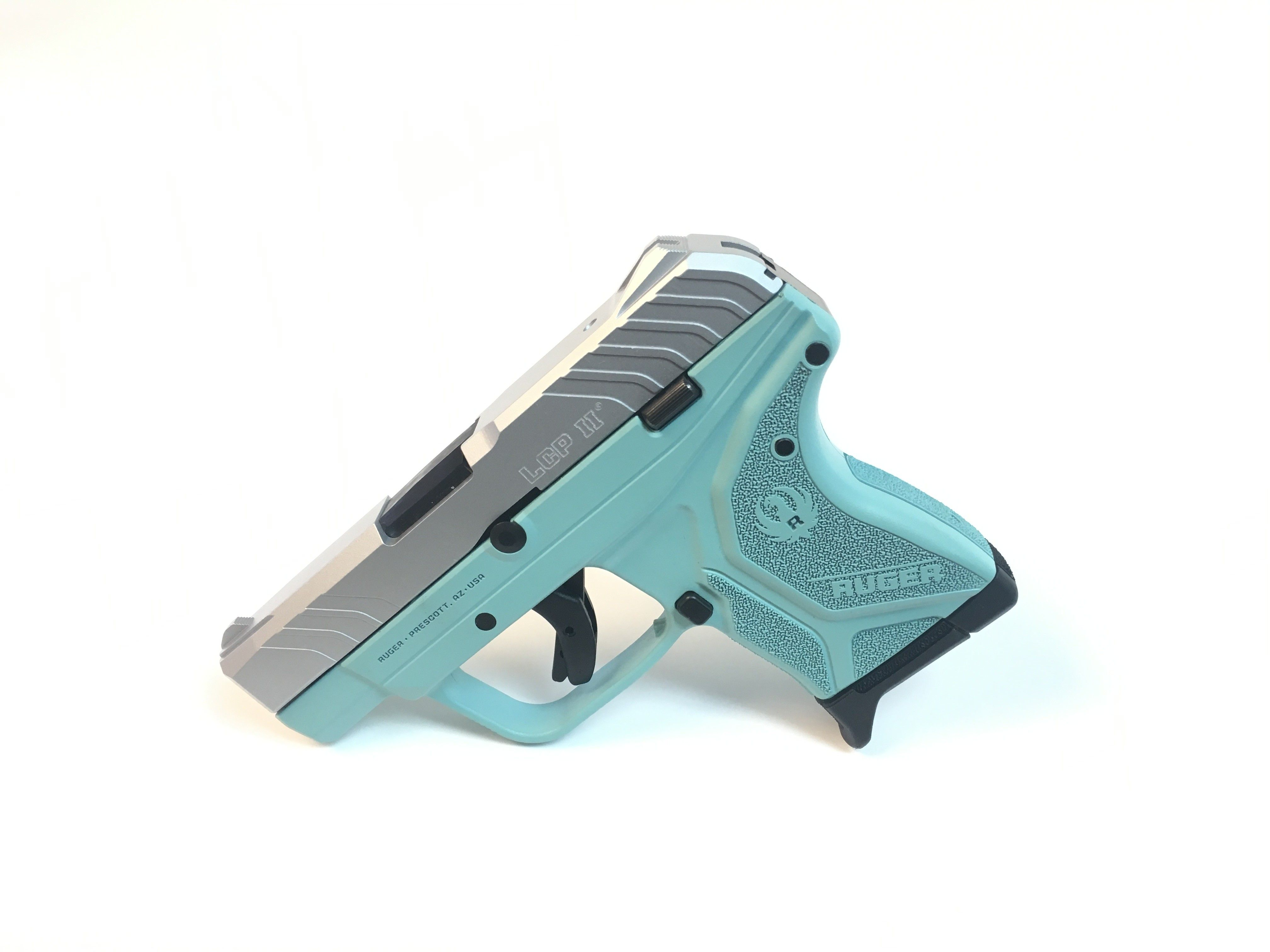 Tiffany Blue and Stainless Ruger LCP II  380   Guns and ammo   Ruger