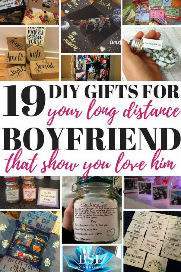 19 DIY Gifts For Long Distance Boyfriend That Show You Care - By Sophia Lee #sweetestdaygiftsforboyfriend