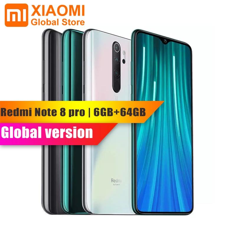 Global Version Xiaomi Redmi Note 8 Pro 6gb 64gb Nfc Mobile Phone Helio G90t Quick Charging 4500mah 64mp Camera Display Resolution Biometrics Technology Xiaomi