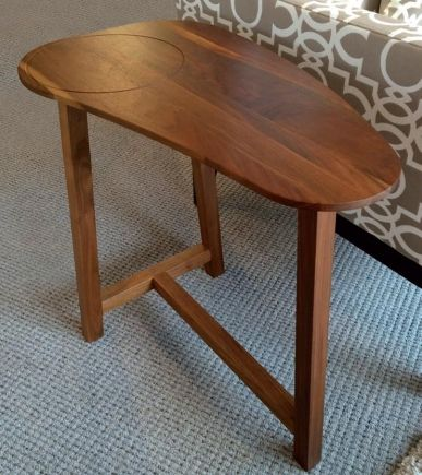 Verbois Egg End Table Canadian Made Solid Wood Canada End Tables Table Furniture