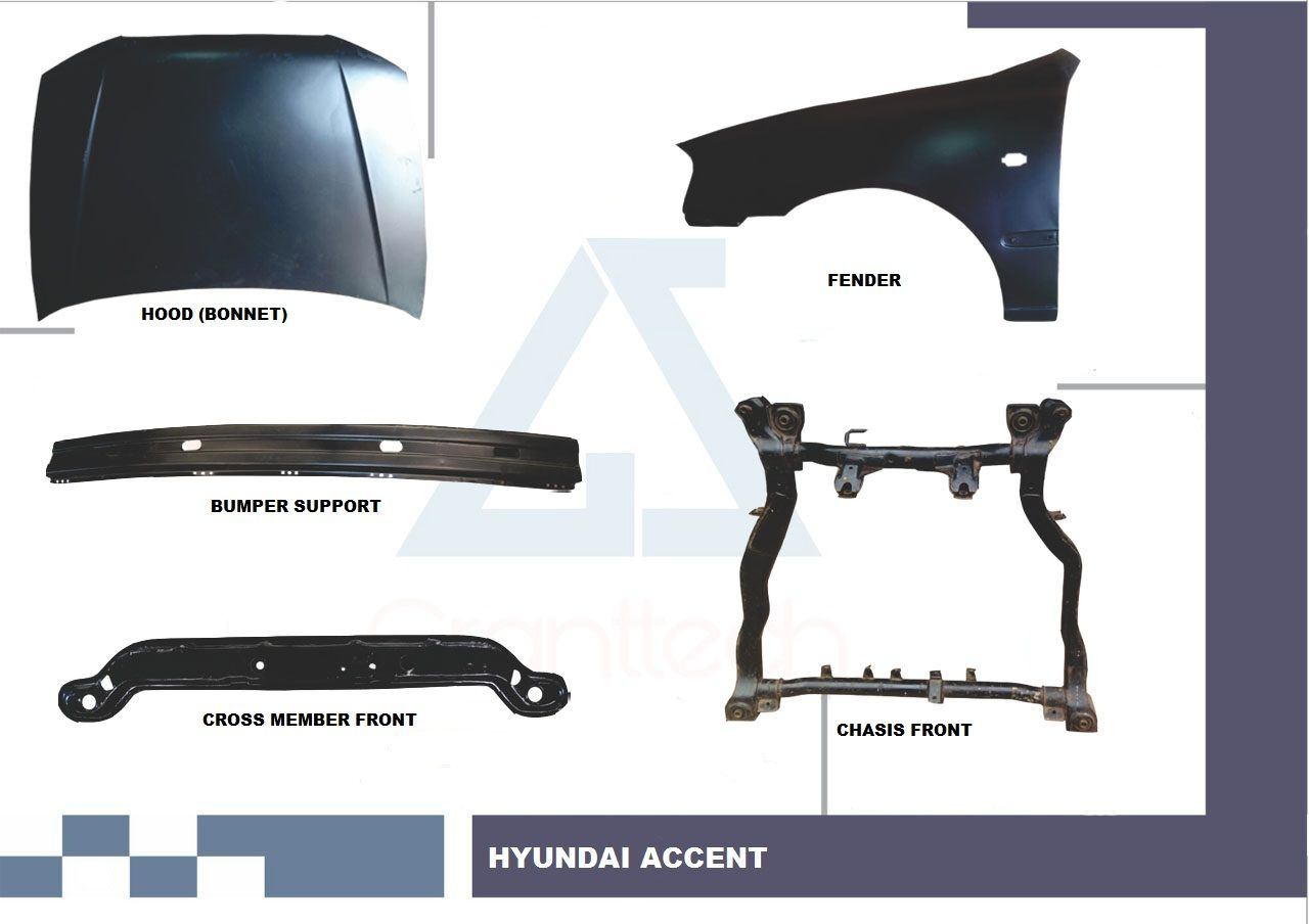 hight resolution of hyundai accent body parts hyundai accent spare parts hyundai accent body panel hyundai hood hyundai fender hyundai accent chassis hyundai accent