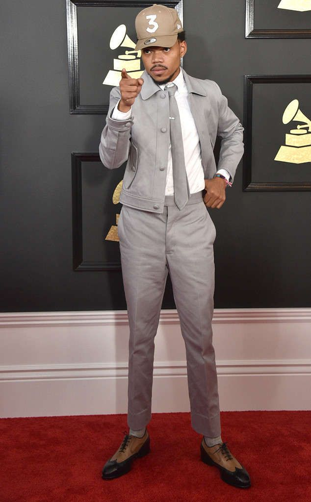 df4d24098a Chance The Rapper in Thom Browne at the 2017 Grammys | Celebrity in ...