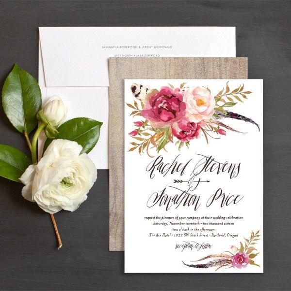 Floral Wedding Invitation Design Ideas Floral wedding, Bohemian - invitation unveiling