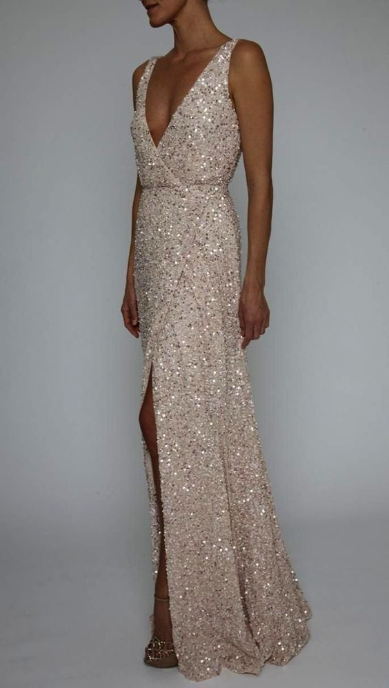 Long Sequin Evening Gowns ,fashion 2019 dress
