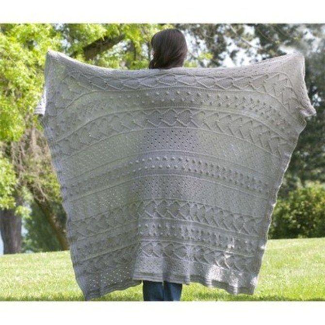 Cascade Yarns W398 Elegance Afghan (Free) - () | Blanket ...