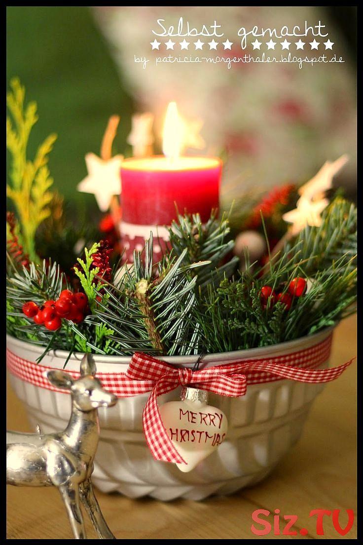 Selbst gemacht by Patricia Morgenthaler: DIY: Adventsgestecke & Kränze - 5 vers...,  #Advents... #weihnachtsdekobasteln