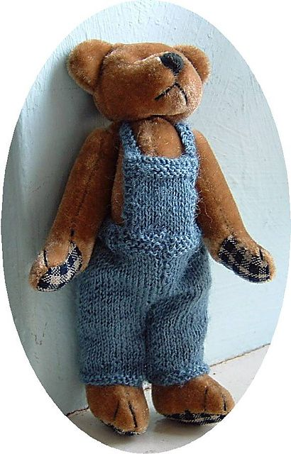 Teddy Dungarees pattern pattern by Frances Powell ...