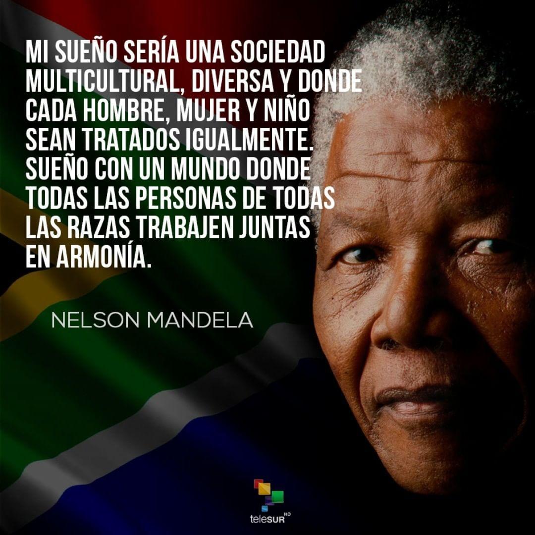 Telesur On Instagram Nelson Mandela Fue Conocido En Señal De Respeto Y Cariño Como Madiba Título Con El Que El Concejo De An Nelson Mandela Mandela Quotes