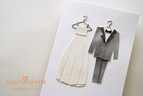 handmade dress die cards | ... Dress & Tux Cards. These make great ...