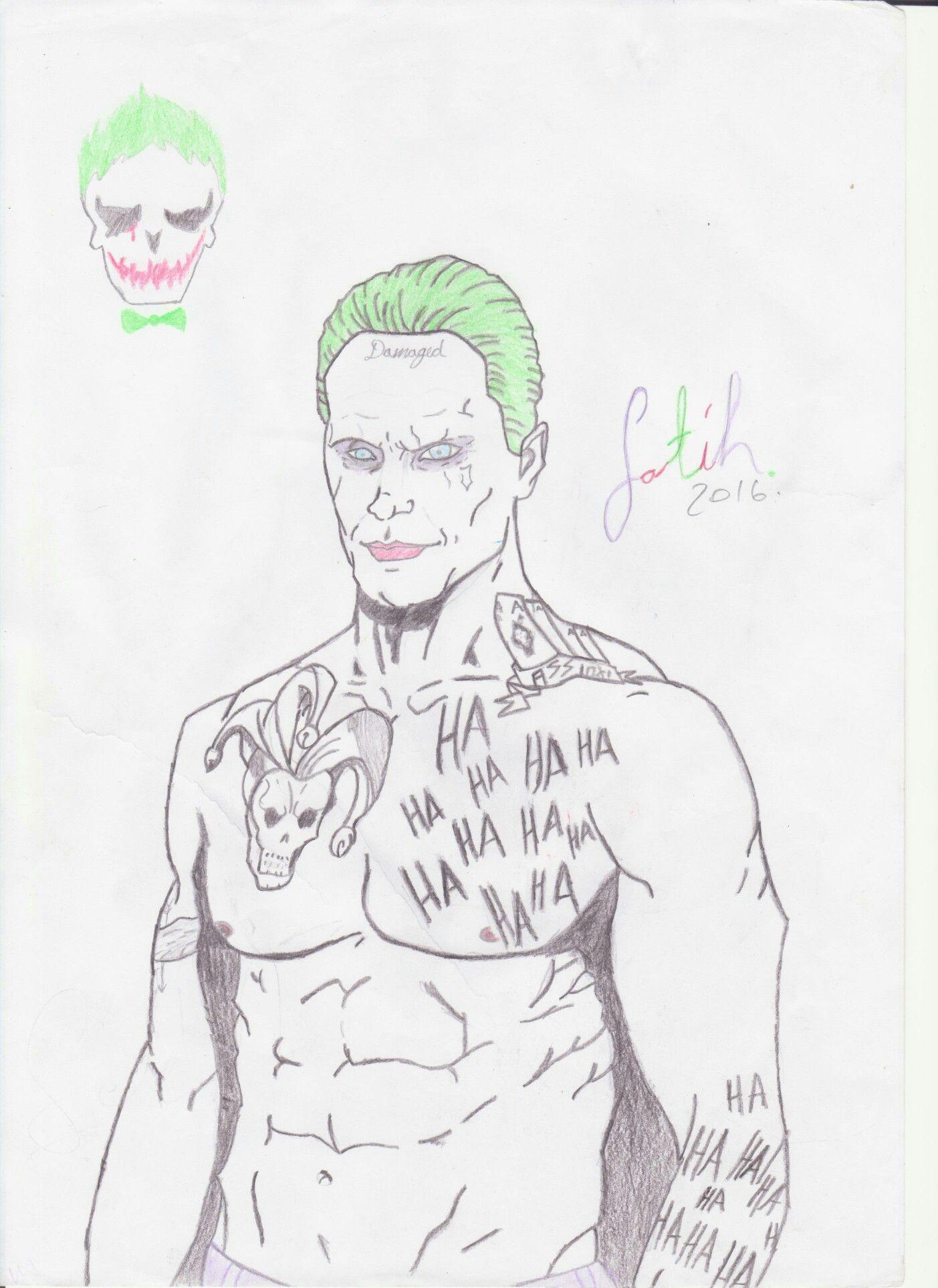 Joker Jaredleto Suicidesquad Dceu Batman Harleyqueen Sketch Drawing