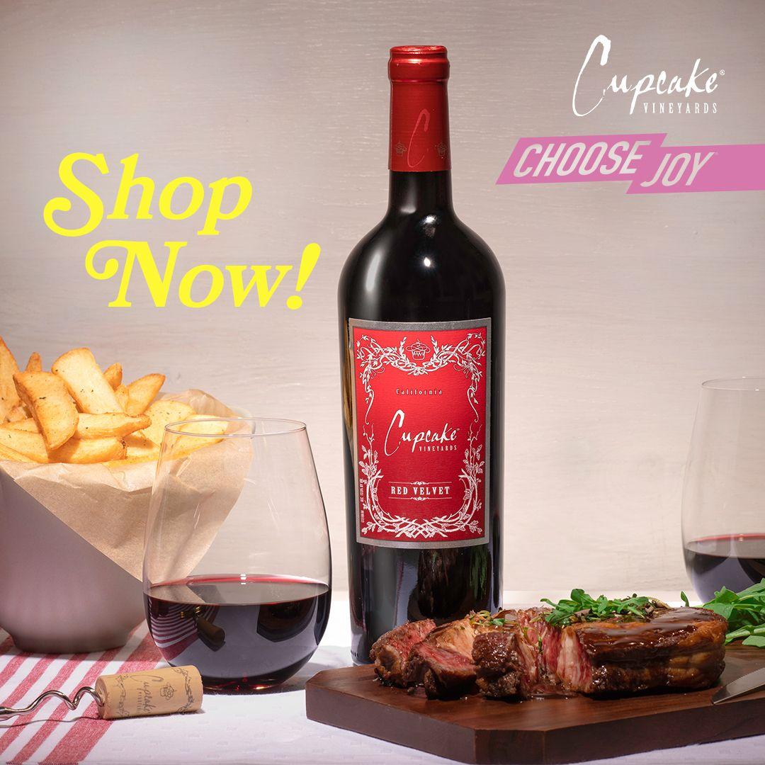 Cupcake Vineyards Red Velvet In 2020 Vineyard Choose Joy Wine Online