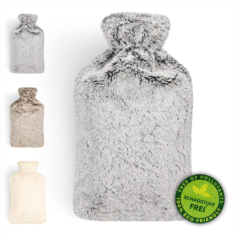 Warmflasche Mit Weichem Bezug 1 8l Warmeflasche Bettflasche Warmflasche Kinder Grau In 2020 Warmeflasche Bettflasche Warmflasche
