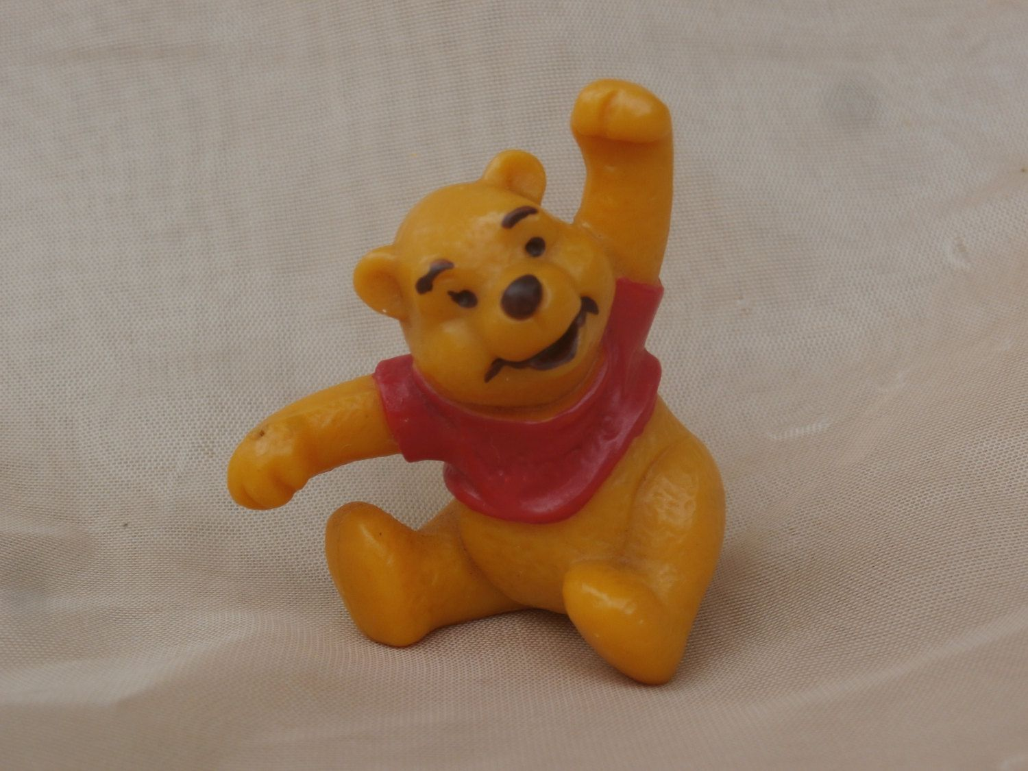 Vintage Pooh Bear Figurine, Bully W. Germany, Walt Disney Productions PVC Winnie the Pooh by MendozamVintage on Etsy