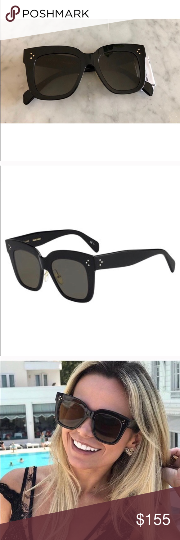 029ee263af8 authentic black Céline Kim 41444 s sunglasses New with tags Celine  sunglasses! CL41444 Kim sunglasses. No scratches. Does not come with box  but will ship ...