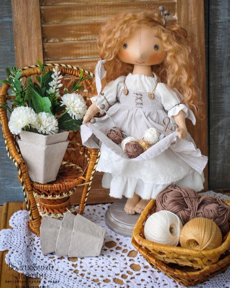 Куклы открытки текстильные