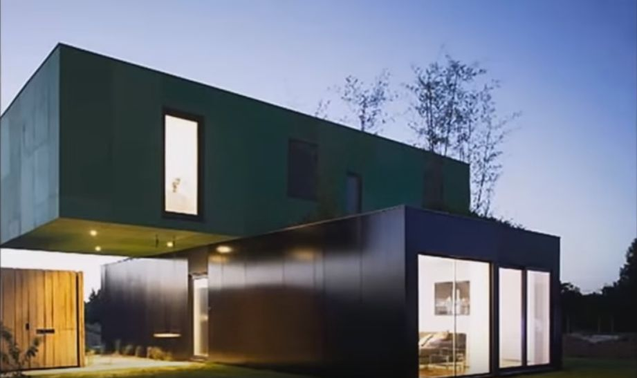 Shipping Container Home Intermodal Steel Building Unit 1200 Sq Ft Container House Plans Container House Modern Modular Homes