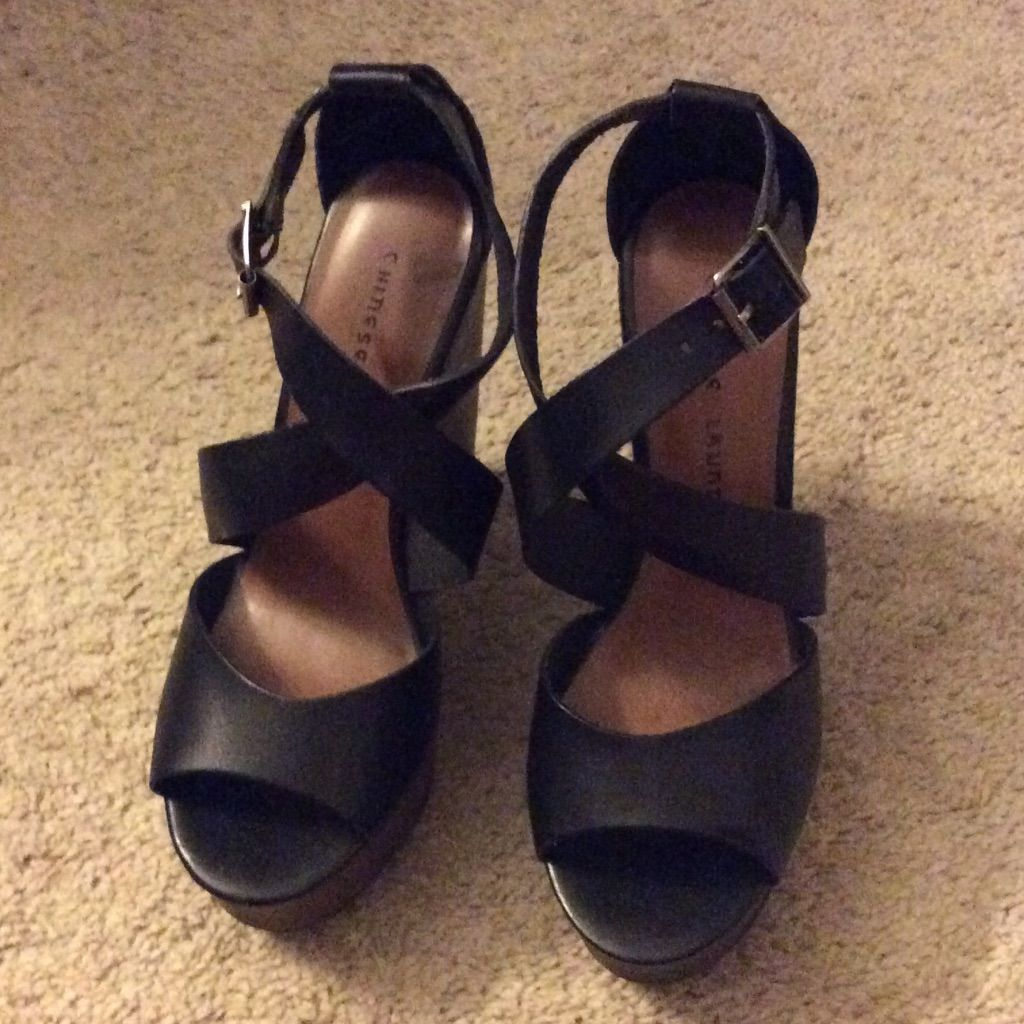 Chinese Laundry Shoes Black Wedges Color Black Size 8 Black Wedges Chinese Laundry Shoes Wedges