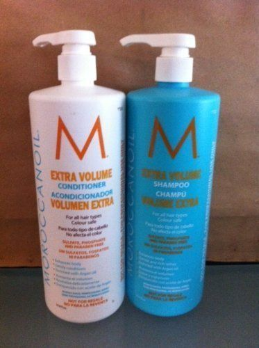 MOROCCANOIL Extra volume Volume Shampoo and Conditioner Liter Duo for Fine Hair #Moroccanoil $120 /ebay