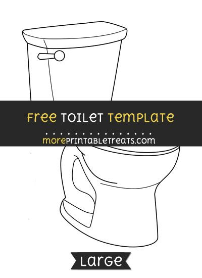 free toilet template large shapes and templates printables
