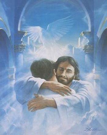 Imagen de Jesus y un abrazo