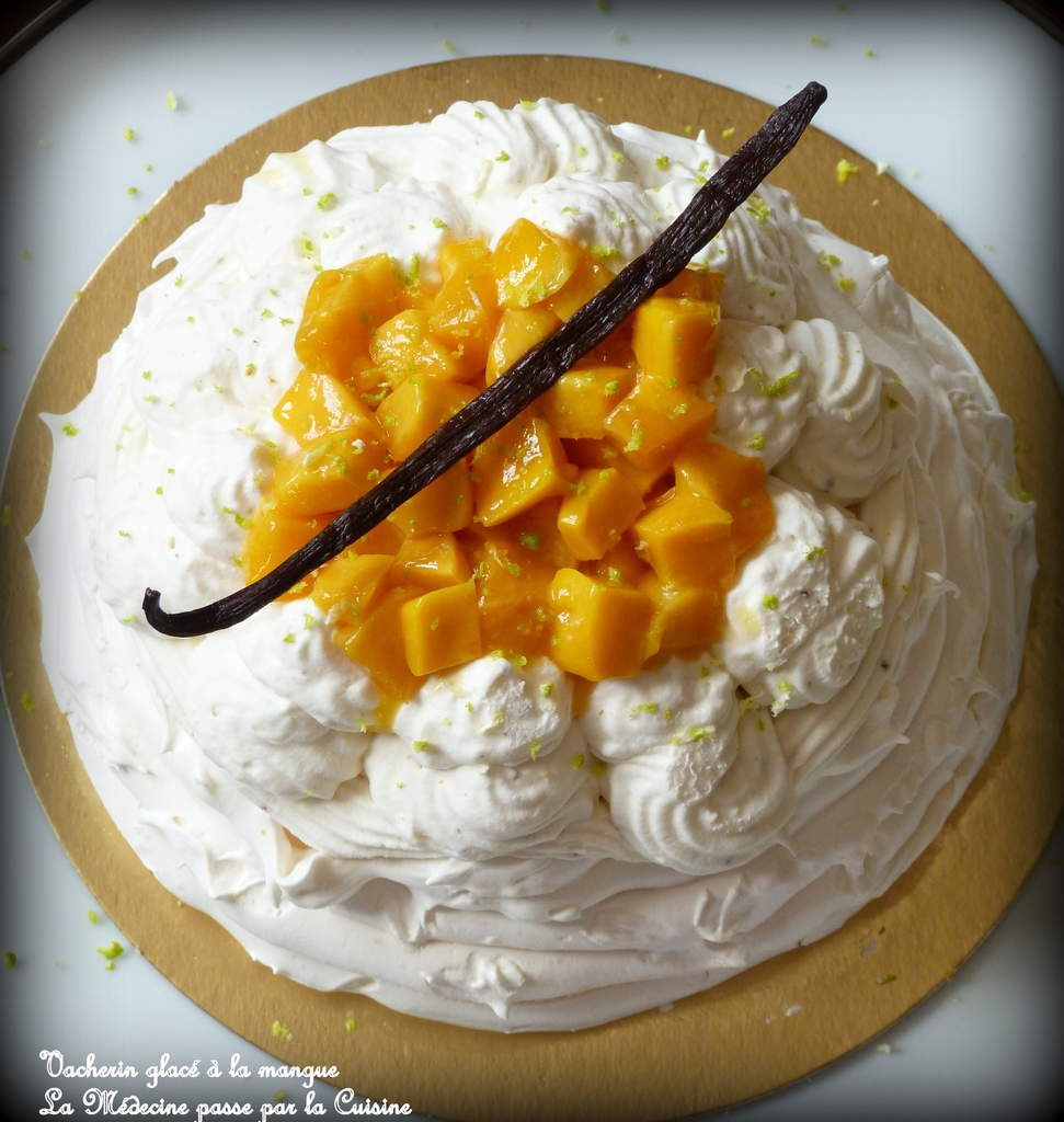 Vacherine glacé mangue et vanille pour la Bataille Food Anniversaire de Jenna