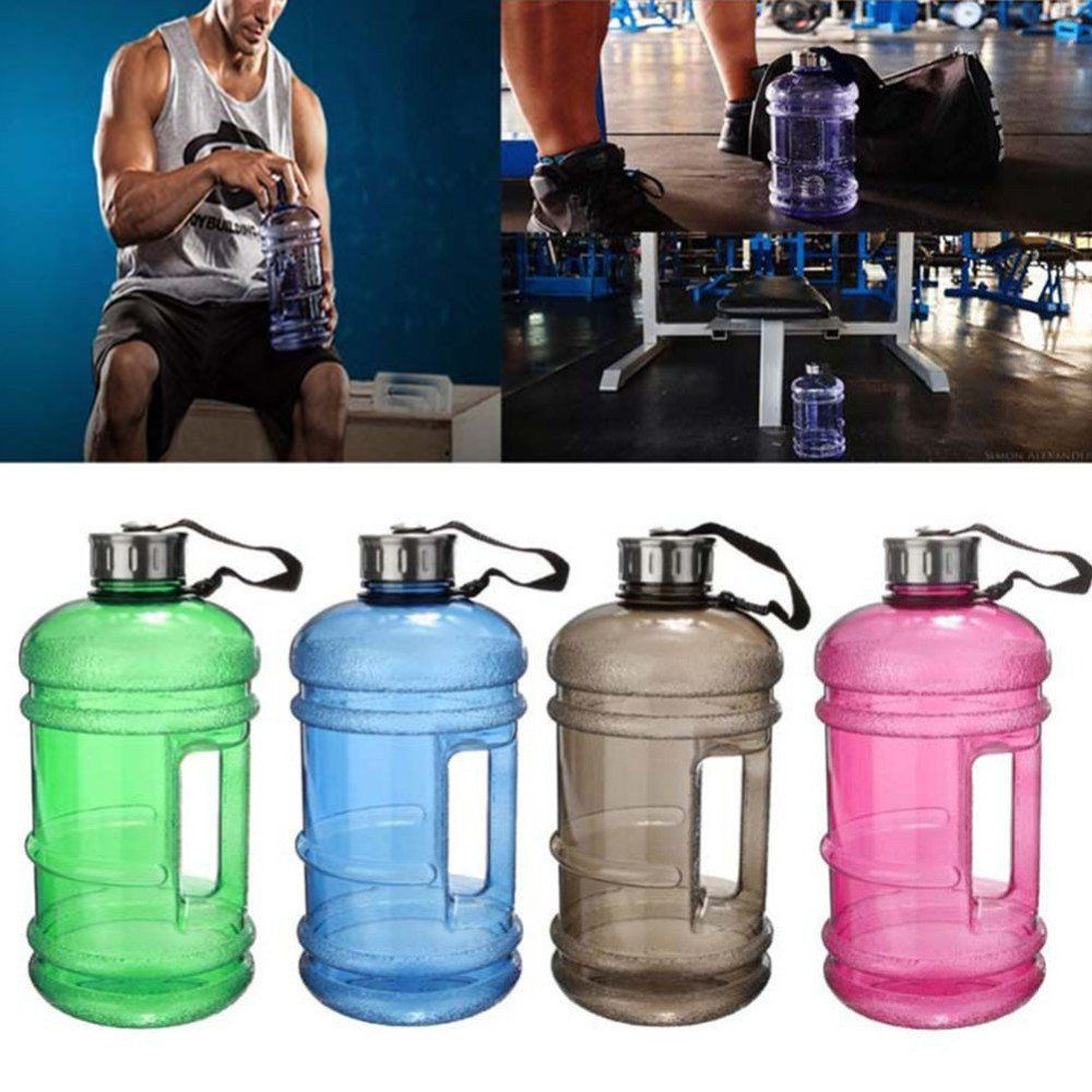 2 2 Liter Water Sports Bottle With Built In Handle 7 Colors Sports Gym Fitness Training Campi Water Bottle Portable Water Bottle Water Bottle Workout