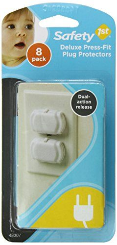 [2015] Safety 1st Deluxe Press Fit Outlet Plugs, 8-Count Safety 1st