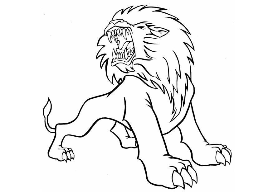 roaring lion coloring pages free coloring pages for kids