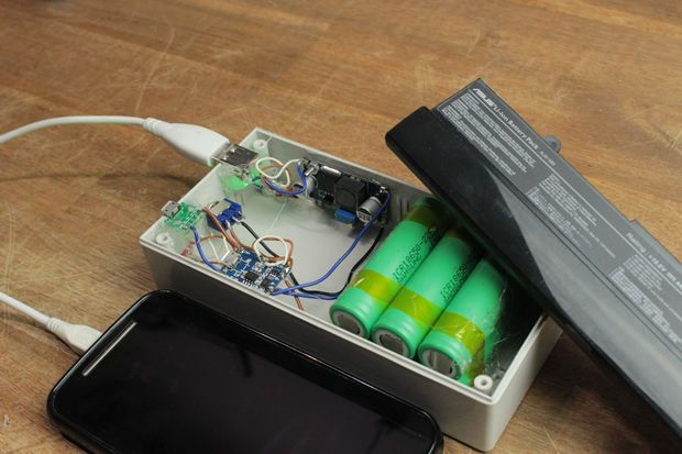 Convert Your Old Laptop Battery Into A Power Bank Powerbank Battery Bank Diy Diy Laptop