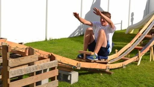 They Built a Backyard Roller Coaster for Under $50 ...
