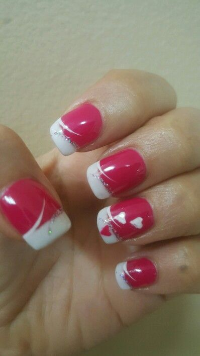 Valentines Nail Art My Art Pinterest Nail Nail Makeup And