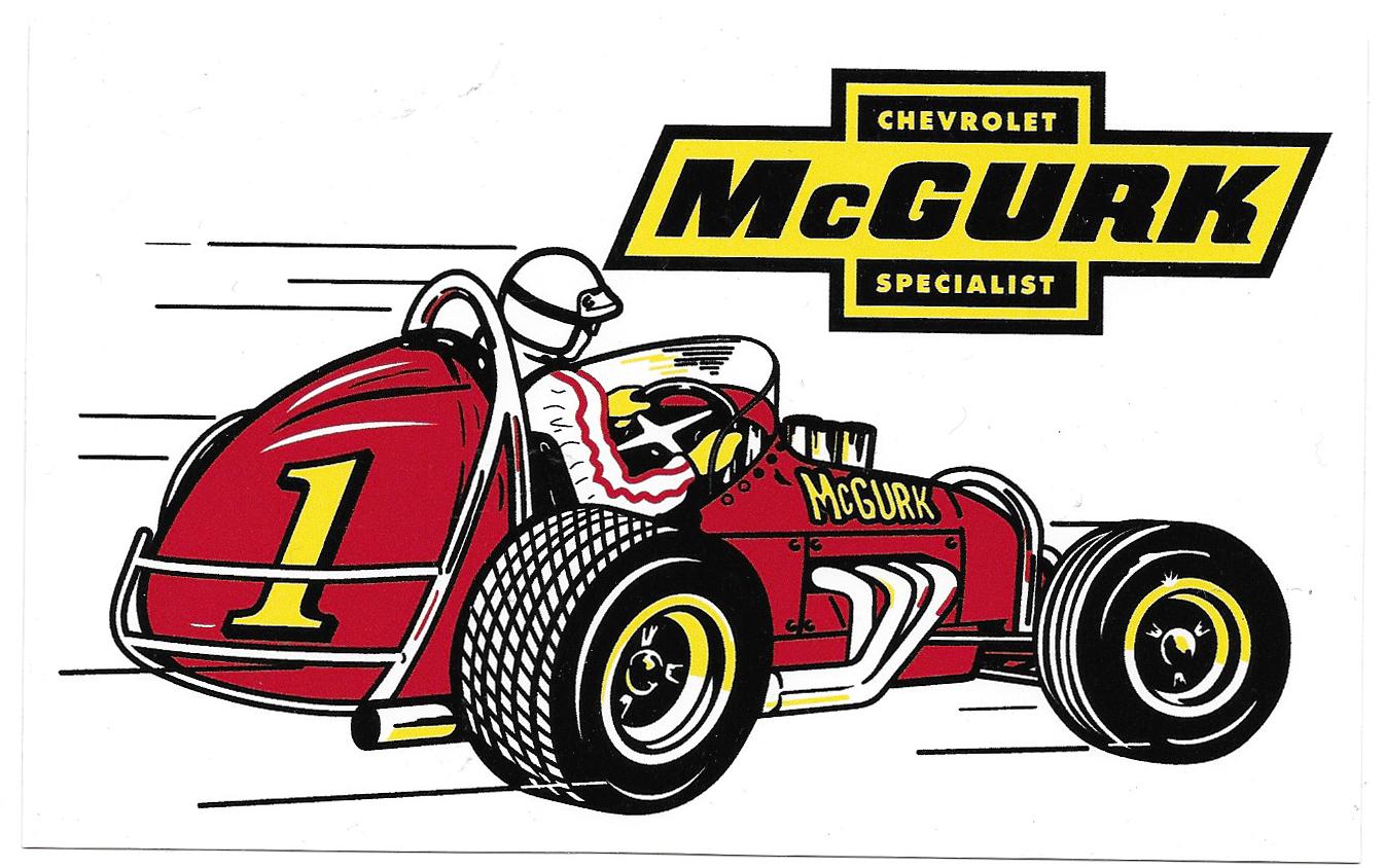 Mcgurk Vintage Racing Decal Racing Stickers Retro Cars Car Memorabilia [ 844 x 1346 Pixel ]
