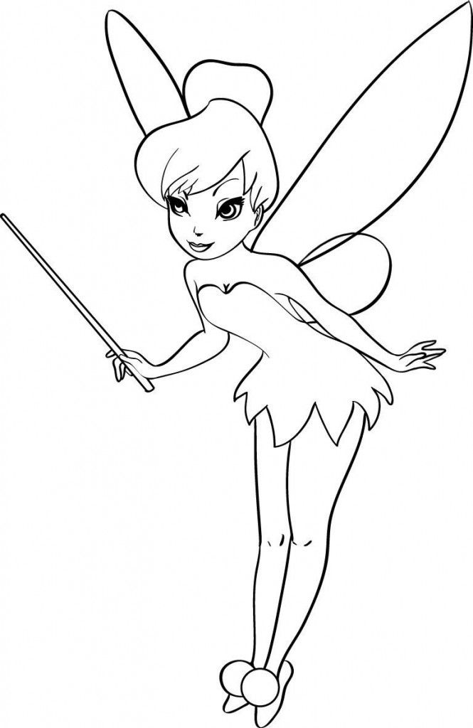 Free Printable Tinkerbell Coloring Pages For Kids Fairies