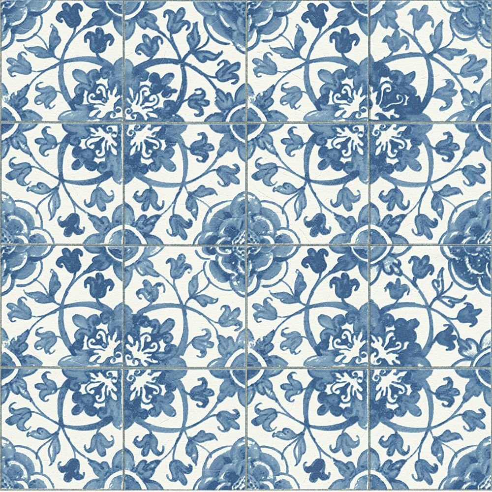 Mediterranean Blue Tile Wallpaper Kitchen And Bathroom Tiling On A Roll 96247 1 Tile Wallpaper Shop Wallpaper Kitchen Wallpaper