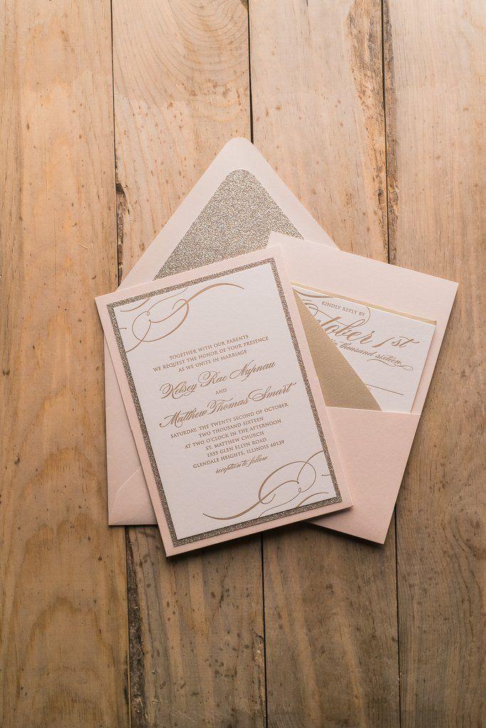 THERESA Suite Panel Pocket Package Luxury Wedding InvitationsPocket