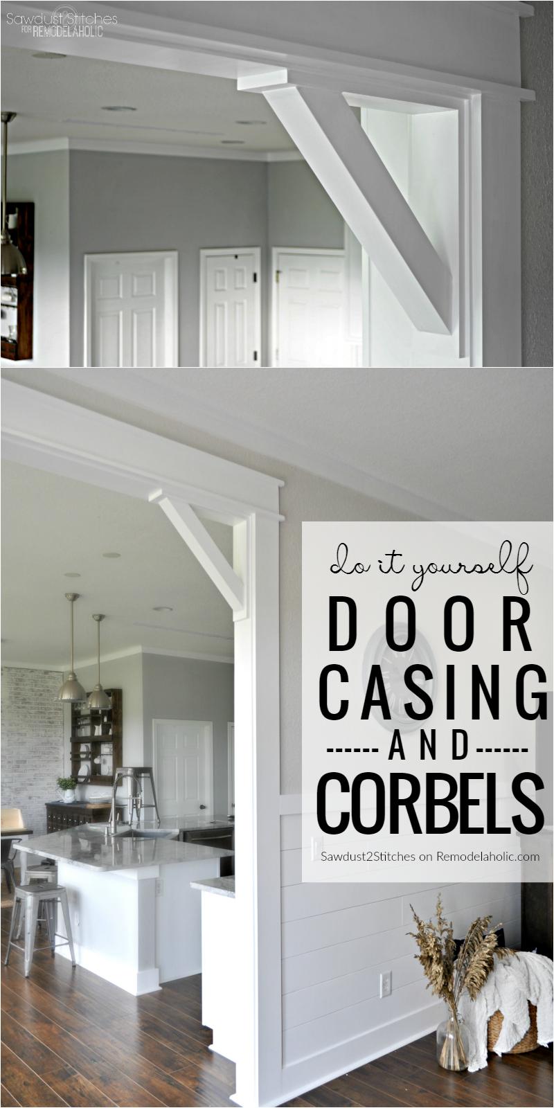 Diy Door Casing And Easy Corbels Tutorial @Remodelaholic | Blogger ...