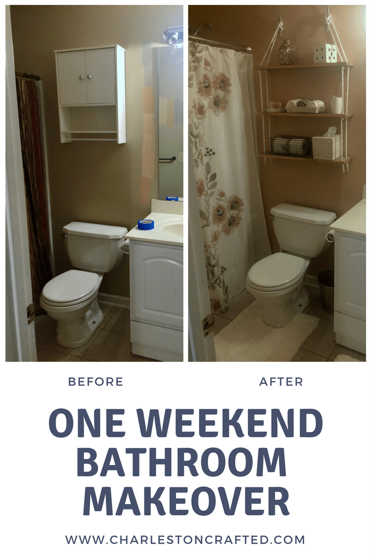 Two Day Bathroom Makeover Via Charleston Crafted Home Decor - Charleston bathroom remodeling